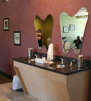 Tooth-shaped mirrors. Dentistry Just 4 Kids - pediatric dentist in Terre Haute, IN @ dentistryjust4kids.com
