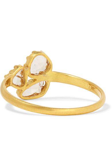 Pippa Small - 18-karat Gold Diamond Ring - M 1/2