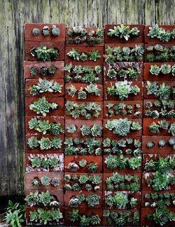 Jardines Verticales con Ladrillos Reciclados