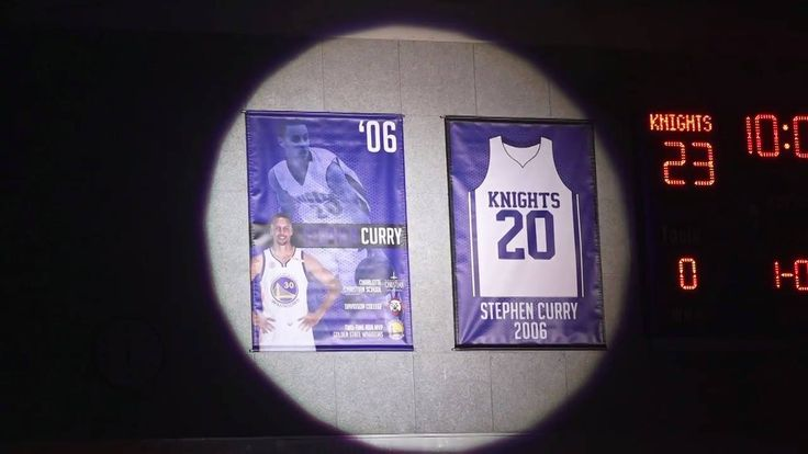 Stephen Curry returned to his high school last night, Charlotte Christian in North Carolina, as the school honored him by retiring him No. 20 jersey!