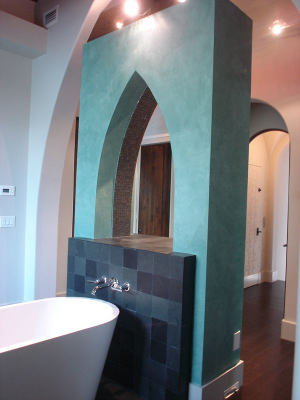 Green Blue Metallic Venetian Plaster