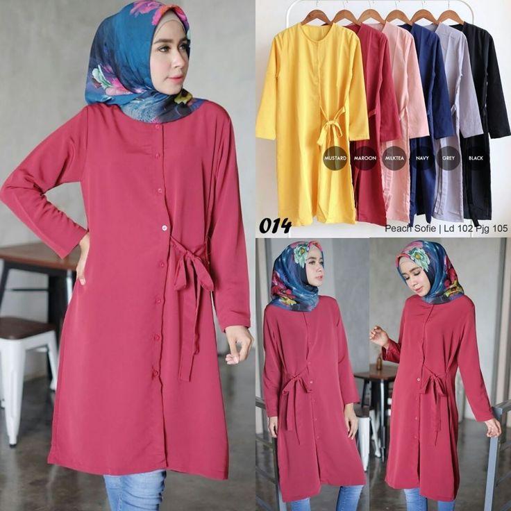 Ready A014 @60rb (KHUSUS GROSIR)  Bahan Peach Sofie  Seri 6 Warna  LD102 cm  P105 cm  ㅤ  new upload nih untuk reseller kesayanganku  konveksi busana muslim, wholesale yah sis...... Contact us for more detail  line: @ konveksi.hijab (pakai tanda @ yah)  WA: 0858 8533 3907  store location: PGMTA lantai LG blok B no.176  Menerima pembuatan model minimal 5 lusin yah sis untuk 1 model... #olshopsemarang #exploresemarang #onlineshopsemarang #semarangolshop  #exploremalang #onlineshopmalang…