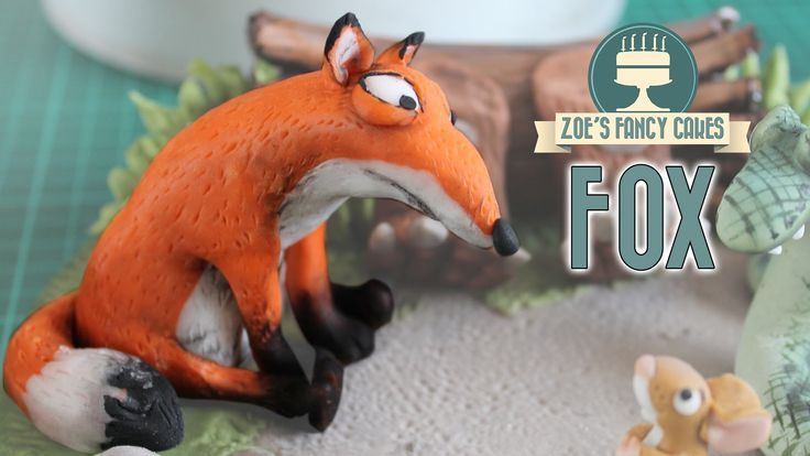 Fox cake topper from the Gruffalo