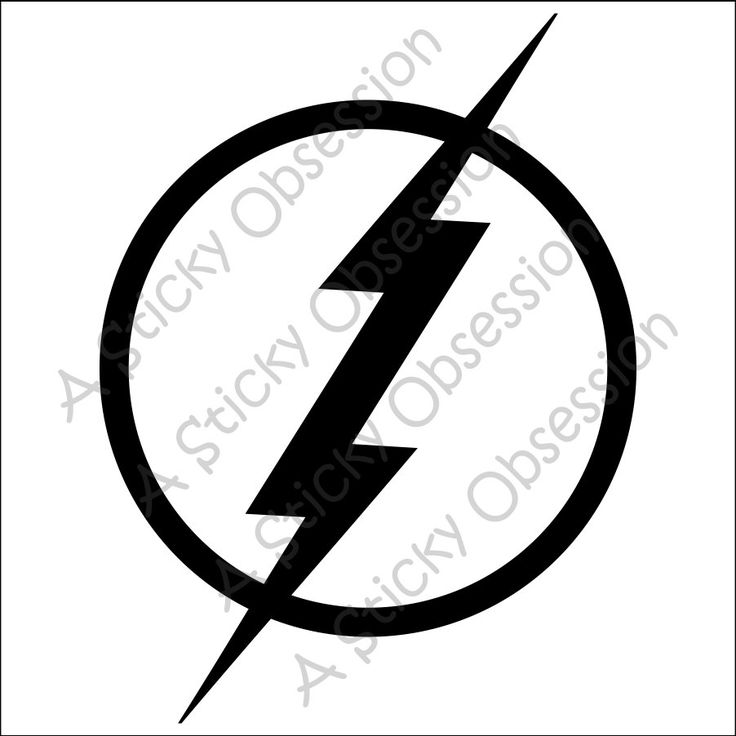 Flash Lightening Bolt Custom Decal Sticker by AStickyObsession on Etsy