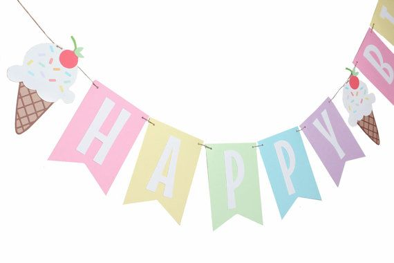 Hey, I found this really awesome Etsy listing at https://www.etsy.com/listing/237789536/ice-cream-birthday-banner-ice-cream