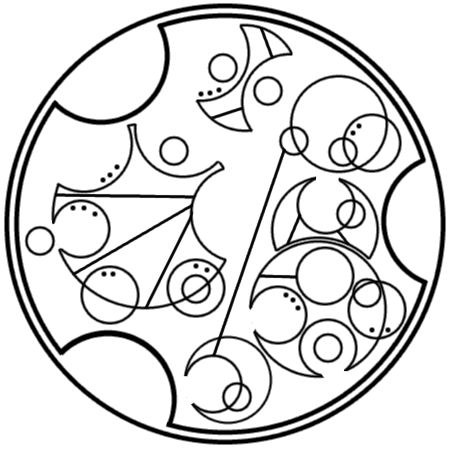 """Go beyond who you were yesterday"" written in circular Gallifreyan requested by anon"