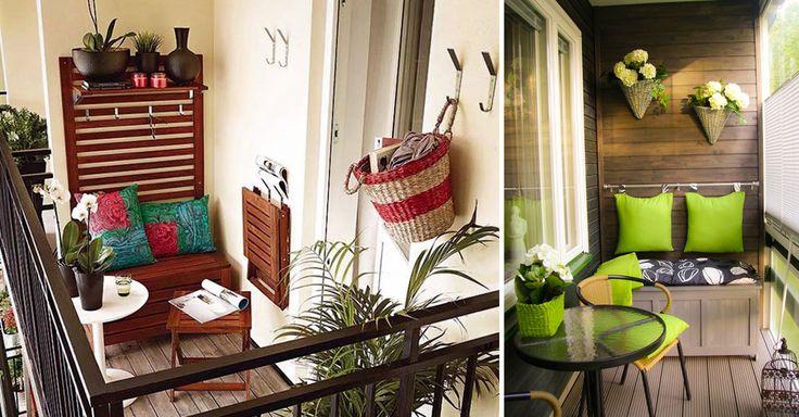 20 Geniales Ideas para modernizar tu pequeño balcón. A veces pensamos que un balcón no sirve de nada y es un espacio desperdiciado, pero aquí te diremos qué hacer