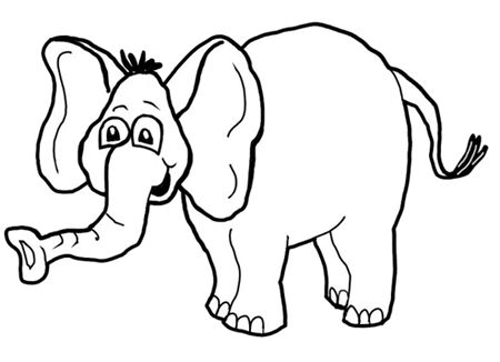 how to draw cartoon elephants african animals step by step drawing tutorial for kids - Cartoon Kid Drawing