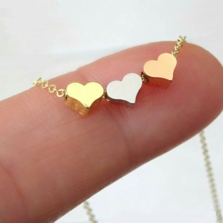 Triple Heart Necklace for 20% DISCOUNT use CODE RMARSHA23 www.gogolush.com