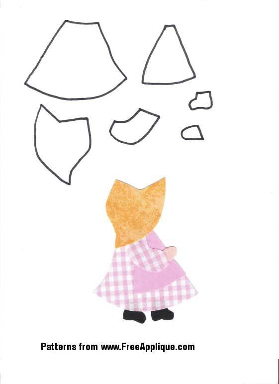 Free Applique Patterns | pattern page free sunbonnet sue patterns to use as applique patterns ...