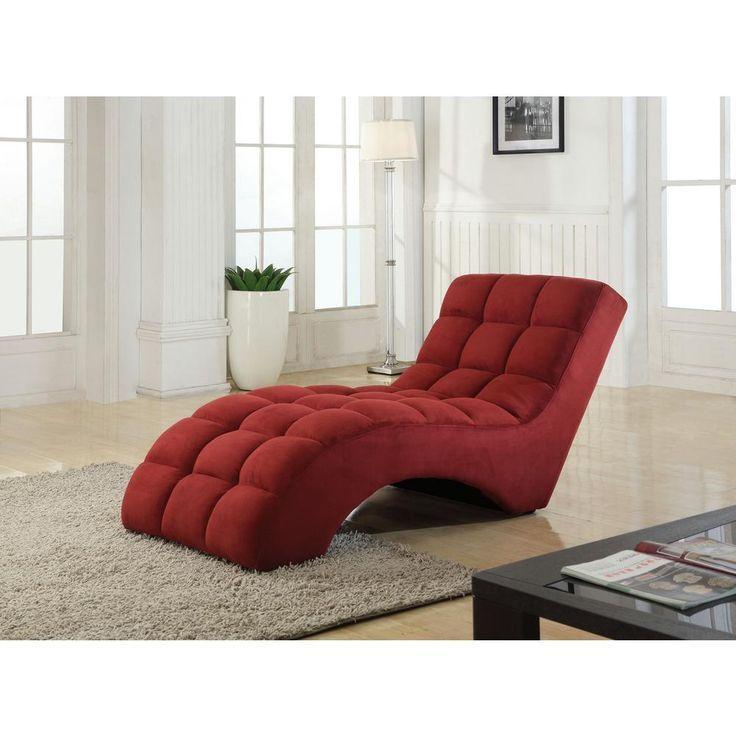 Star Home Living Rot Getufteter Chaiselongue Sessel Mobel Tufted Chaise Lounge Chaise Lounge Chair Lounge Chair Design