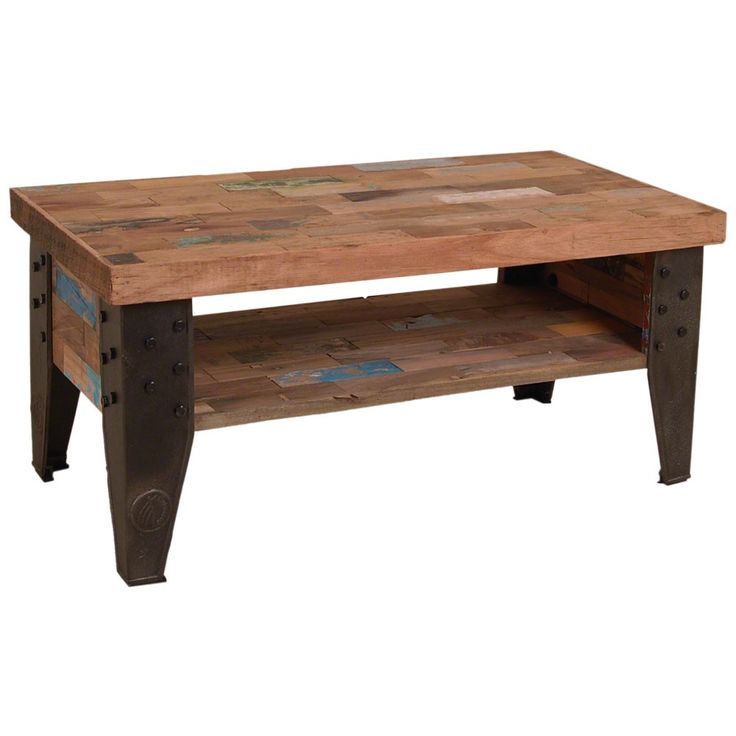 OH Industrial Recycled Boatwood TV Dresser / Coffee Table With Shelf