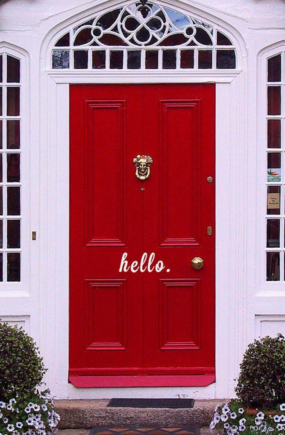 """Un adhesivo de vinilo para decir """"hola"""" en tu puerta"""