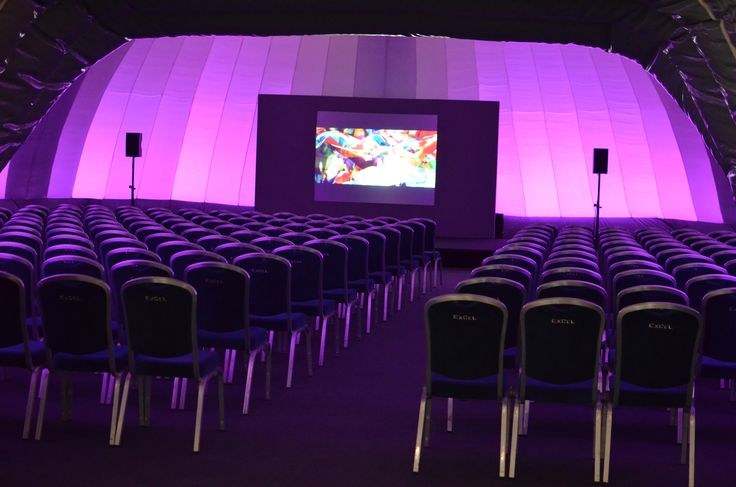Conference held inside our large,inflatable dome structure, complete with mood lighting, seating and projection screen. #EvolutionDome #Moodlighting #ConferenceVenue #PopUpVenue #TemporarySpace #ExhibitionVenue #AllWeather #AlternativeMarquee #ExCelLondon