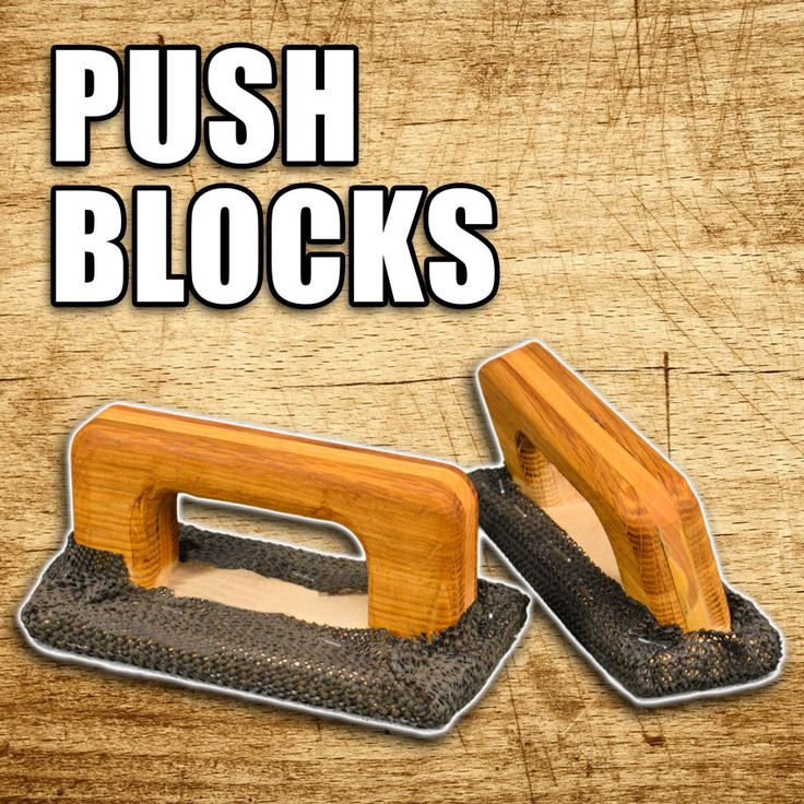 How to Make Push Blocks for Table Saws, Router Tables and Jointers. #woodworking #diy