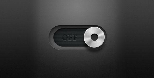 Metal switch slider
