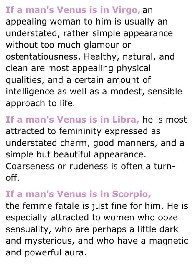 Venus in libra men