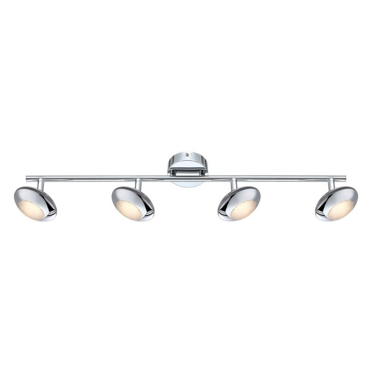 EEK A+, LED-Strahler Gilles Metall Silber - 4-flammig, Lux