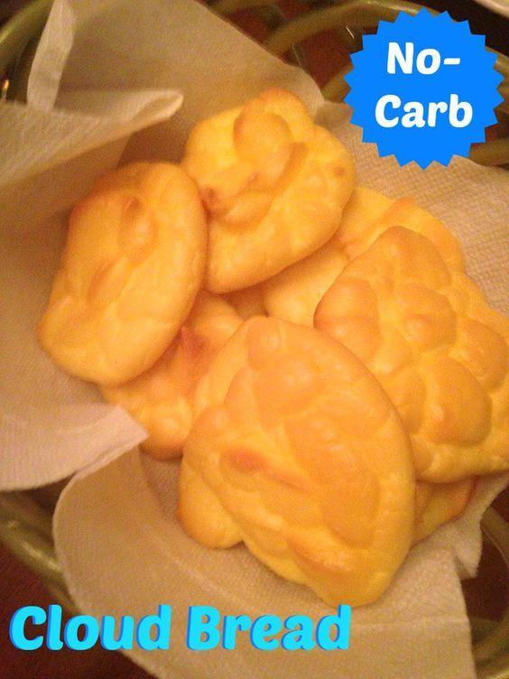 Cloud Bread: 4-ingredients, no sugar, no carbs, low-calorie bread. PIN NOW!