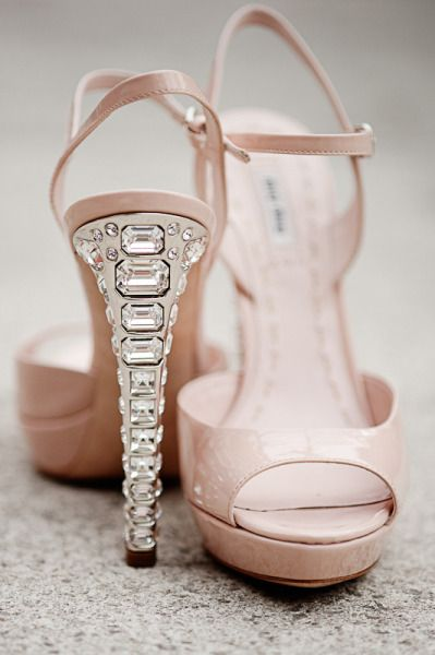 Miu Miu nude sandals with crystal heel