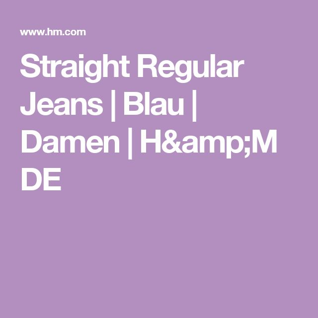 Straight Regular Jeans | Blau | Damen | H&M DE