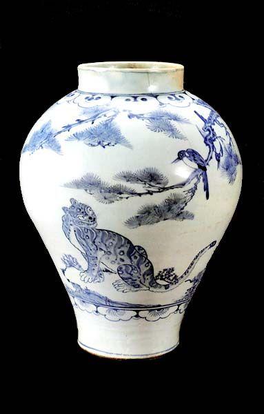 Porcelain Jar With Cobalt-Blue Underglaze Joseon dynasty, 2d half of 18th…