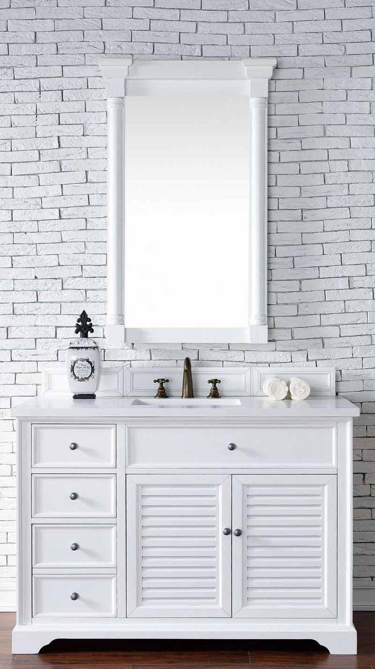 Art Exhibition James Martin Furniture Savannah Cottage White Single Vanity with CM Snow White
