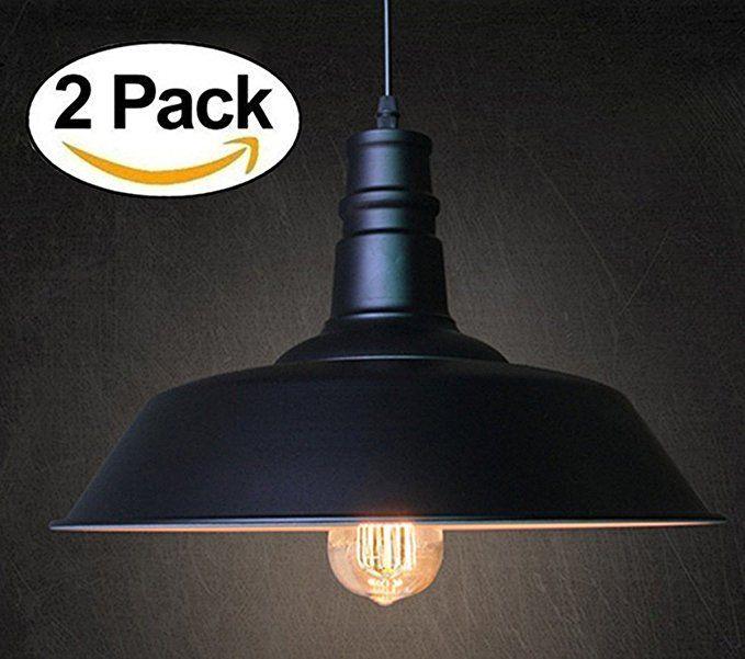 Fadimikoo Industrial Pendant Lighting E26 E27 Base Vintage Metal