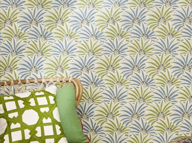 papier peint vert brasilia nobilis projets essayer. Black Bedroom Furniture Sets. Home Design Ideas