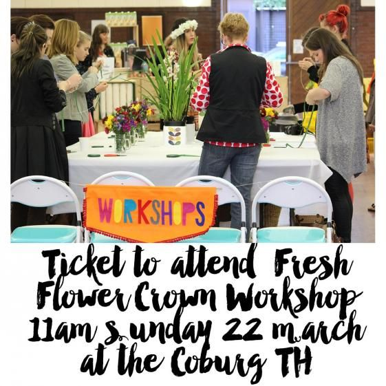 Join our workshop this Sunday and take home a fresh floral crown made by you!