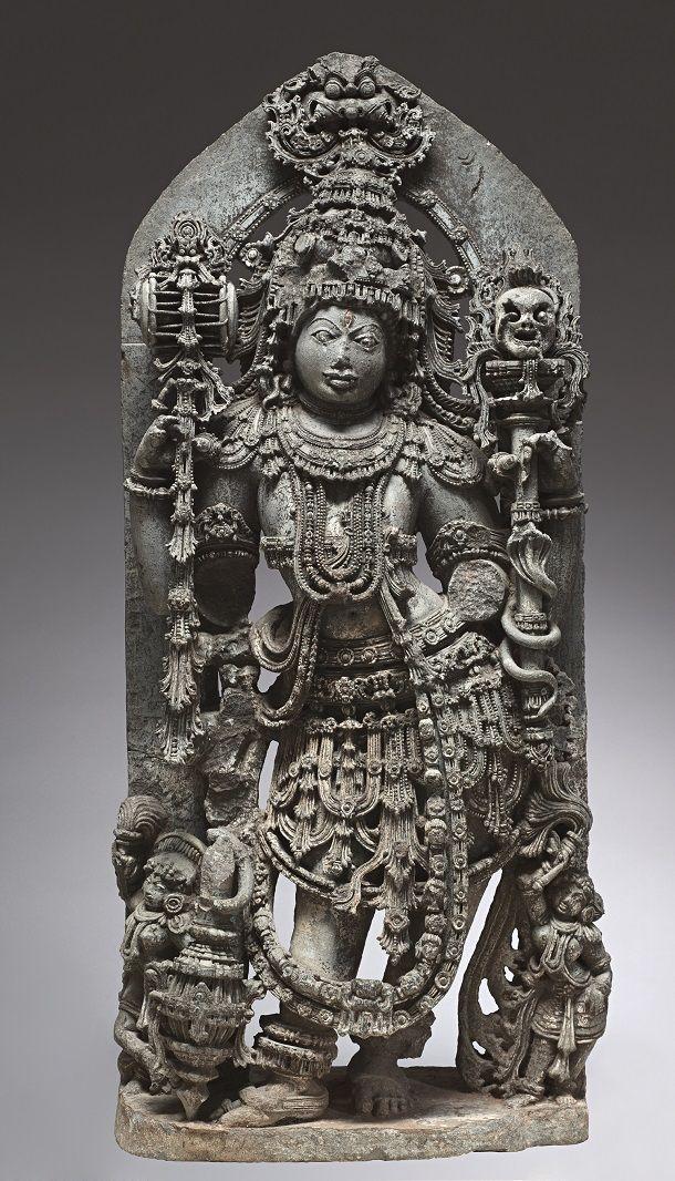 Shiva Bhairava India, Karnataka, Mysore 13th century Chloritic schist The…