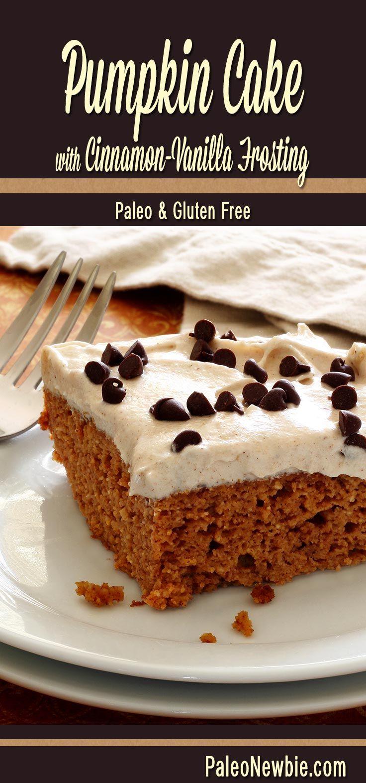 Glutenfree Cinnamon Vanilla and Frosting Cakes Pumpkin Cakes  Cake Pumpkin   air jordan Paleo list with Moist sites   Recipe