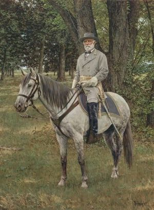 General Robert E. Lee and his horse, Traveller:  One of the most successful human-equine partnerships of all time.