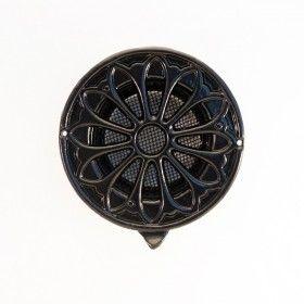 rond ventilatierooster zwart 100mm ROO-AL-Z-155-100 Fobie BVBA