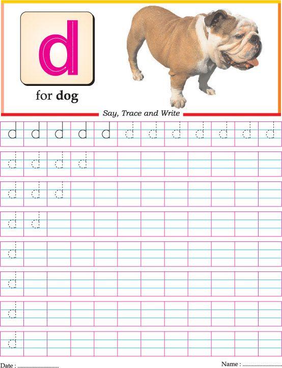 Letter Tracing: small letter D | Homeschooling: Alphabet | Pinterest ...