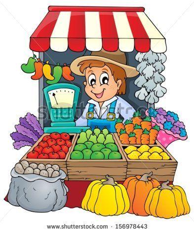 Cartoon Children With Fruits And Vegetables Stock Vector ... (393 x 470 Pixel)