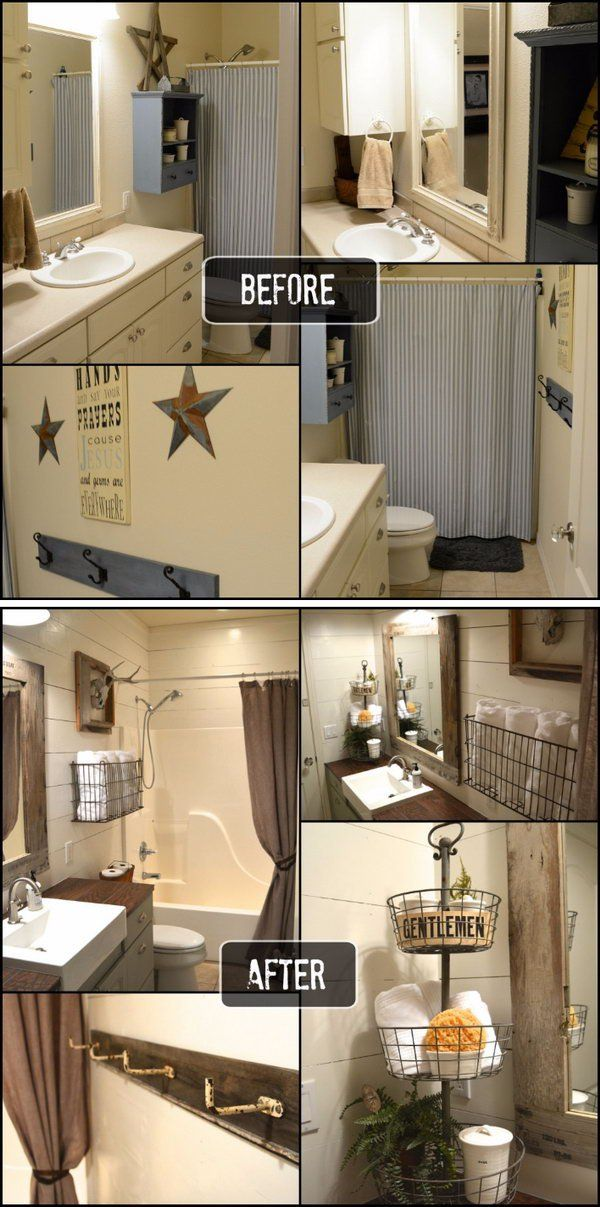 Rustic Bathroom Remodel Ideas best 10+ rustic bathroom makeover ideas on pinterest | half