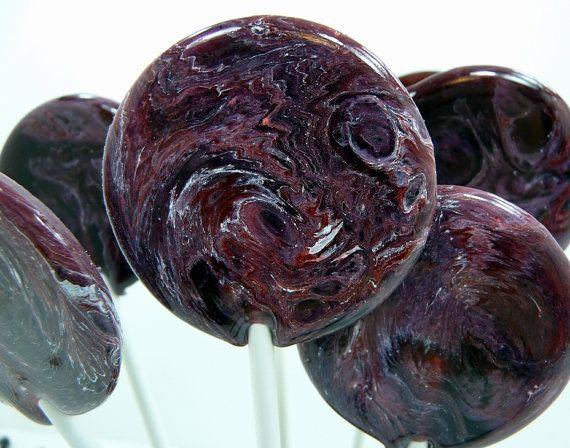 Blackberry Merlot Mulled Wine  Lollipop by TheGroovyBaker on Etsy, $10.00 Favors