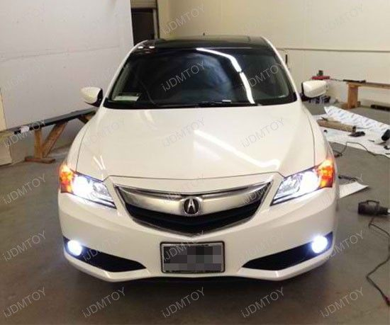 This 2013 Acura ILX introduces a more refined design language for the marque with H11 LED Fog Lights that are great addition to the scalloped headlights, equipped with 6000K D2S HID bulbs. Such small customization matches perfectly to the luxury headlights and if you take a good look at the pictures, you'll notice the CREE powered H11 LED bulbs emit almost the same output and look…