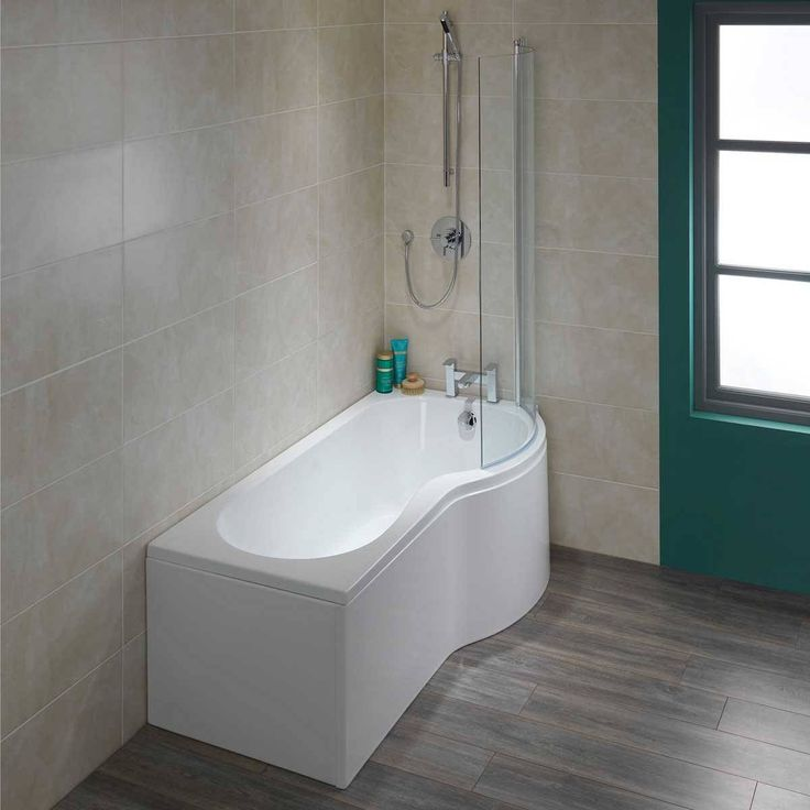 P Shape Shower Bath 1700 RH Screen Now Only GBP24900 From Victoria Plumb