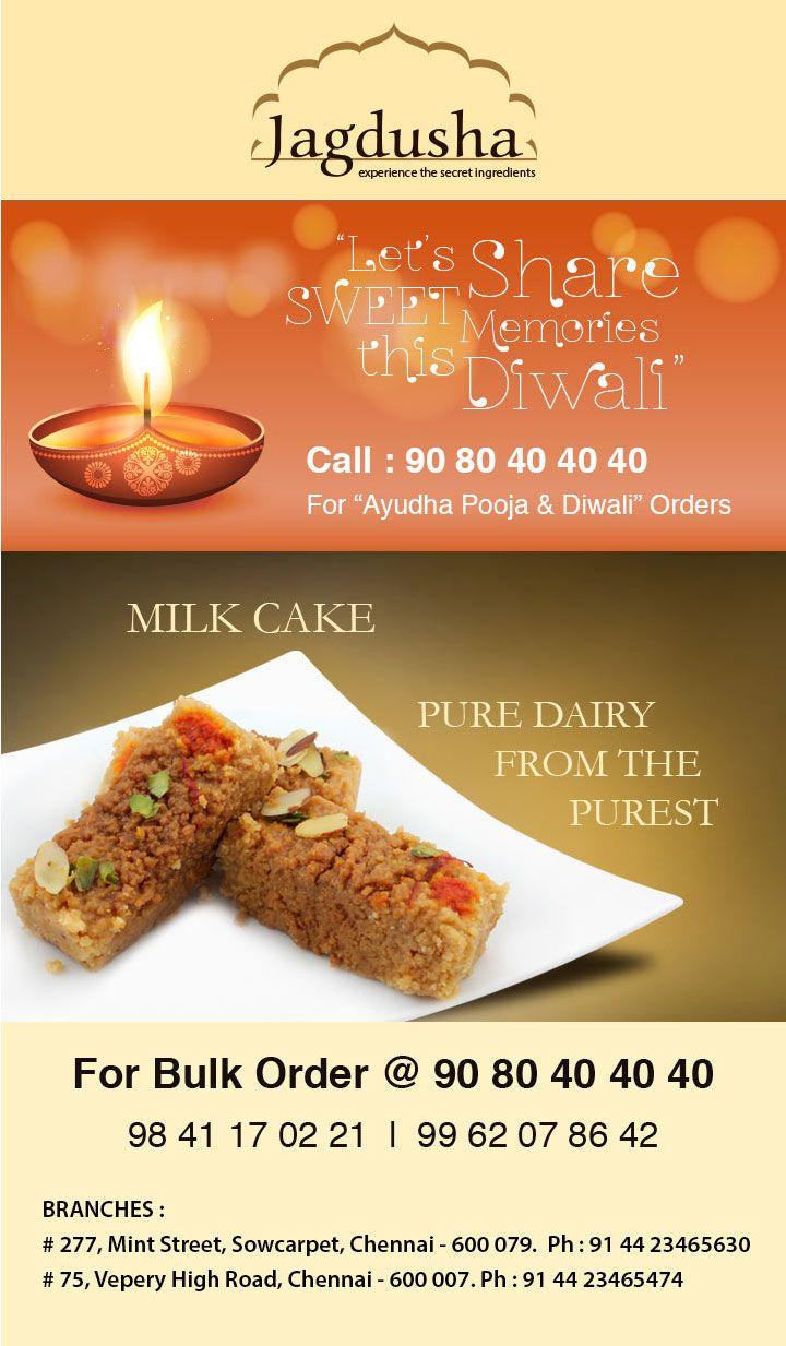 Enjoy the True taste of Milk Cake with Jagdusha Sweets & Savories. . .It's time to taste. . .