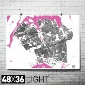 """Queens Structures 48""""x36"""" Print Map in Dark/Light $60"""