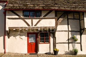Old Cottage Steyning Sussex England (One of many old and quaint cottages and houses in the West Sussex town of Steyning.)