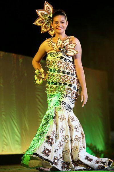 Polynesian tribal prom dresses