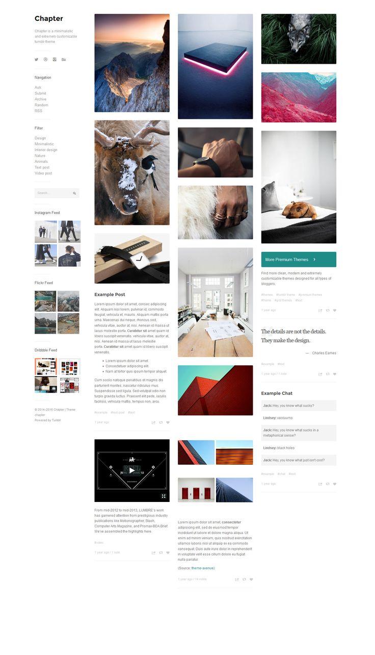 33 clean amp minimalist tumblr themes xdesigns - 736×1284