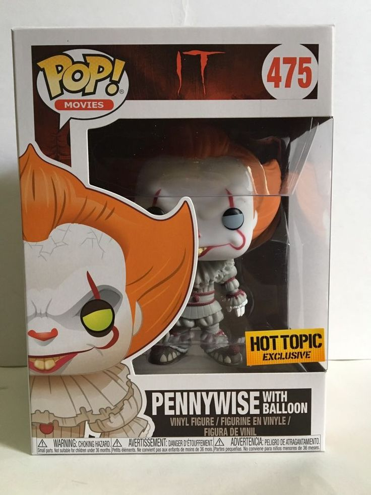 Funko POP! Movies PENNYWISE WITH BALLOON 475 Hot Topic Exclusive Vinyl Figure   eBay