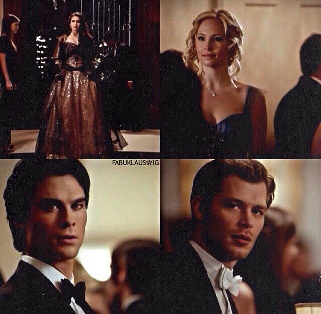 #TVD The Vampire Diaries Elena & Damon/Caroline & Klaus