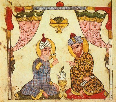 Two Seated Men (from the Maqamat of al-Hariri, Syria, 1237).
