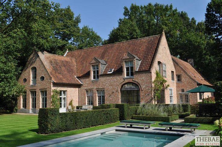 25 beste idee n over landhuis exterieurs op pinterest huis exterieur kleuren cottage huis - Exterieur ingang eigentijds huis ...