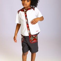 chemise-bermuda-wax-bebe-enfant-encolure americaine